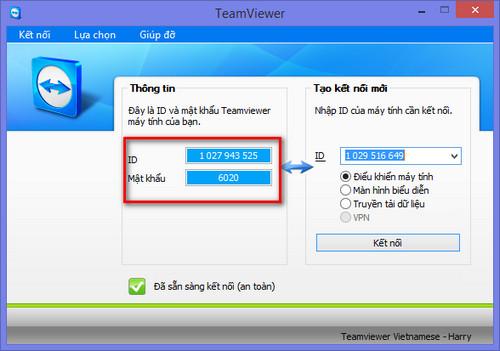 hướng dẫn cài đặt phần mềm teamvier