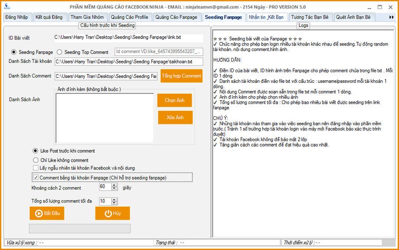 Phần mềm seeding Fanpage hiệu quả