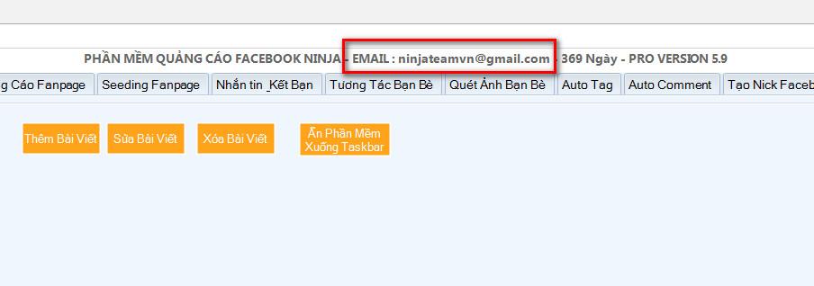huong dan kich hoat ban quyen Facebook Ninja   Hướng dẫn cấp lại bản quyền  Key Facebook Ninja