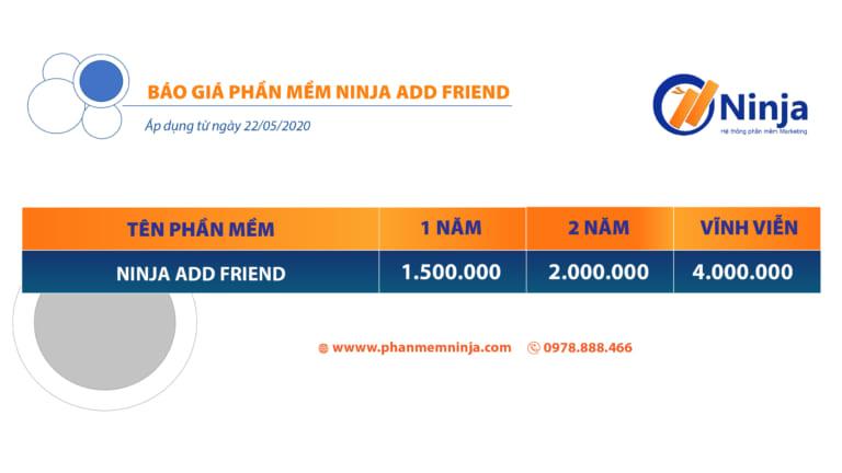 bảng giá ninja add friend