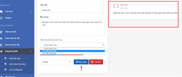 Phần mềm quản lý bán hàng zalo tự động đăng bài hàng loạt