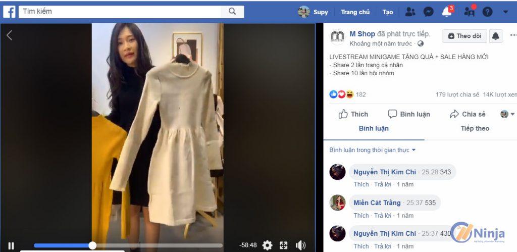 chia se livestream facebook